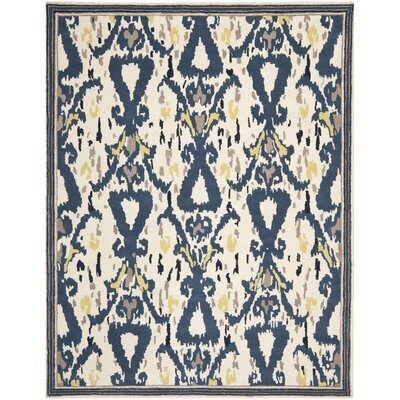 Ikat Pendant Hand-Loomed Mariner Area Rug Rug Size: Rectangle 9 x 12