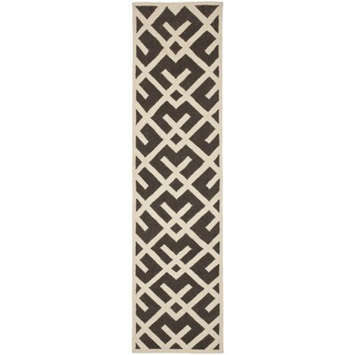 Cassiopeia Handmade Brown / Ivory Area Rug Rug Size: Runner 26 x 8