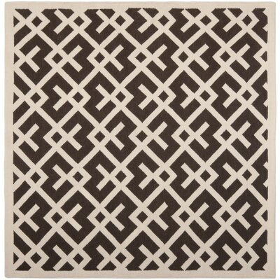 Cassiopeia Handmade Brown / Ivory Area Rug Rug Size: Square 6 x 6