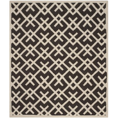 Cassiopeia Handmade Wool Brown/Ivory Area Rug Rug Size: Rectangle 9 x 12
