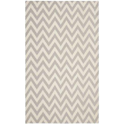 Vanderhoof Handmade Grey / Ivory Area Rug Rug Size: 5 x 8