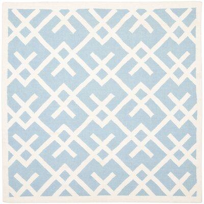 Cassiopeia Handmade Light Blue/Ivory Area Rug Rug Size: Square 8 x 8