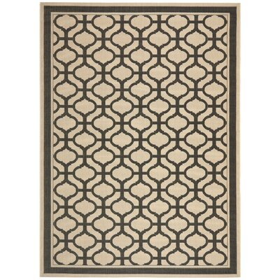 Tangier Creme / Black Area Rug Rug Size: 8 x 112