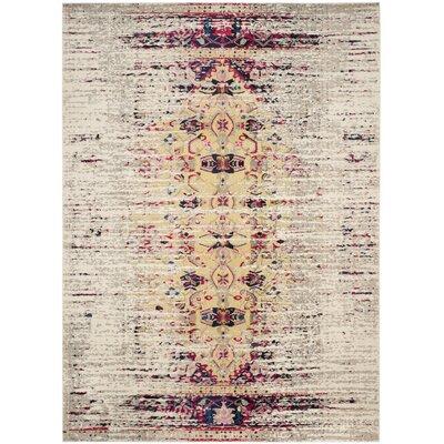 Vanarsdale Ivory / Pink Area Rug Rug Size: 51 x 77