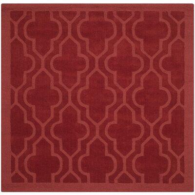 Alchiba Hand-Loomed Rust Area Rug Rug Size: Square 6 x 6