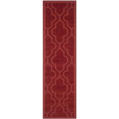 Casados Hand-Loomed Rust Area Rug Rug Size: Runner 23 x 8