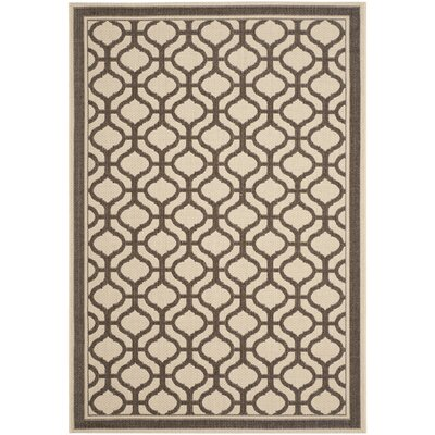 Tangier Cream / Chocolate Area Rug Rug Size: 67 x 96