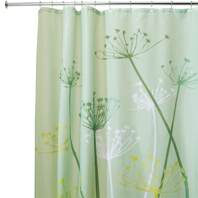 Vivian Thistle Shower Curtain Color: Green