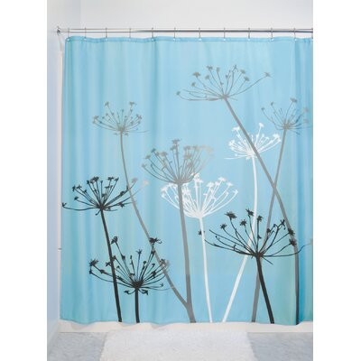 Vivian Thistle Shower Curtain Color: Black/Blue