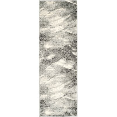 Vulpecula Gray and Ivory Area Rug Rug Size: Runner 23 x 9