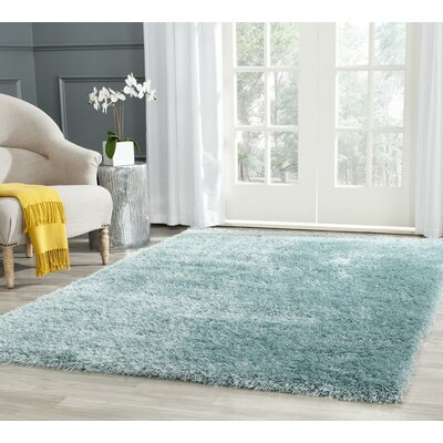 Virgo Light Blue Area Rug Rug Size: Rectangle 6 X 9