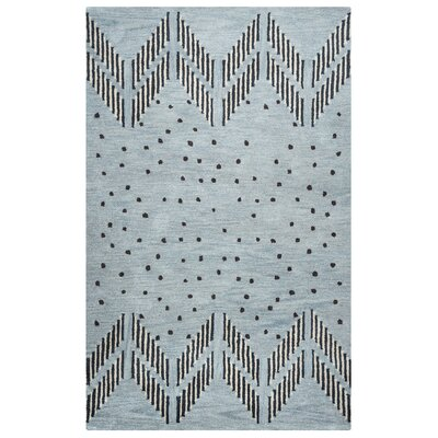 Larkins Hand-Tufted Blue/Light Blue Area Rug Rug Size: Rectangle 8 x 10