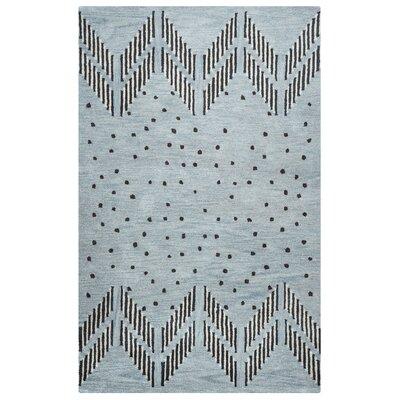 Larkins Hand-Tufted Blue/Light Blue Area Rug Rug Size: 5 x 8