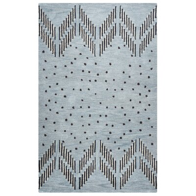 Mae Hand-Tufted Blue/Light Blue Area Rug Rug Size: 9 x 12