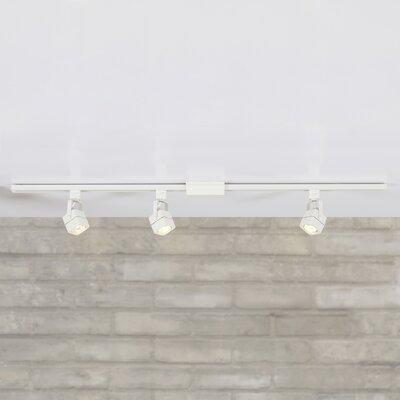 Polytric 3-Light Square Full Track Lighting Kit Finish: White