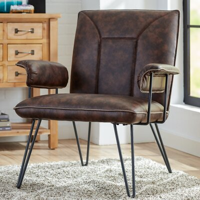 Aphrodite Side Chair Upholstery: Antique Brown