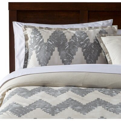 Pantaleon Duvet Cover Set Color: Gray, Size: Full / Queen