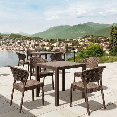Ketterman 5 Piece Dining Set Finish: Brown
