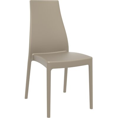 Aquila Patio Dining Chair (Set of 2) Finish: Dove Gray