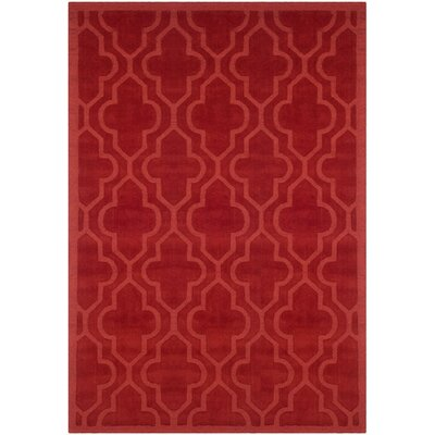 Casados Hand-Loomed Rust Area Rug Rug Size: Rectangle 4 x 6