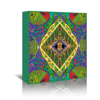 Croton Shield 2 Graphic Art on Wrapped Canvas Size: 20