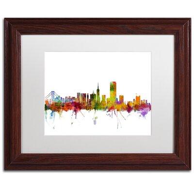 'San Francisco City Skyline' Framed Graphic Art IVYB6587 40339616