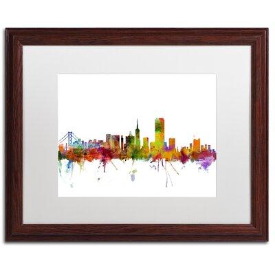 'San Francisco City Skyline' Framed Graphic Art IVYB6587 40339617