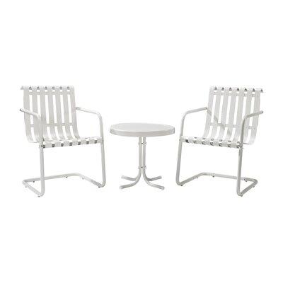 Erato Aidan 3 Piece Lounge Seating Group Finish: White