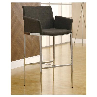 Desdemona 29 Bar Stool Upholstery: Charcoal