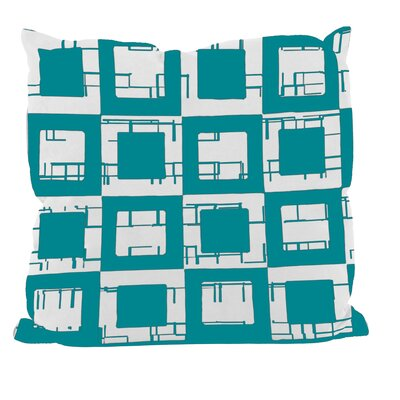 Geometric Decorative Throw Pillow Size: 20 H x 20 W, Color: Lake Blue