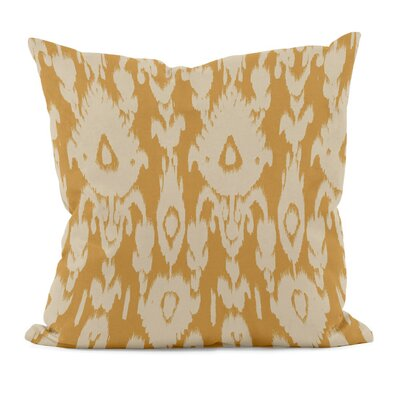 Decorative Polyester Throw Pillow Size: 16 H x 16 W, Color: Gold