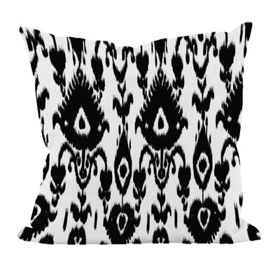 Decorative Polyester Throw Pillow Size: 20 H x 20 W, Color: Black