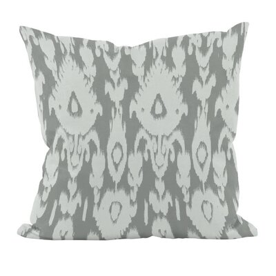 Decorative Polyester Throw Pillow Size: 18 H x 18 W, Color: Grey