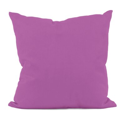 Polyester Throw Pillow Size: 16 H x 16 W, Color: Radiant Orchid