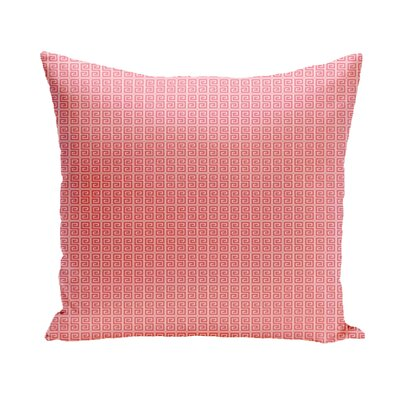Woodland Throw Pillow Size: 26 H x 26 W, Color: Coral/White