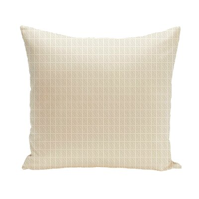 Woodland Throw Pillow Size: 16 H x 16 W, Color: Oatmeal/White