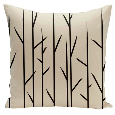 Woven Polyester Throw Pillow Size: 20 H x 20 W, Color: Oatmeal