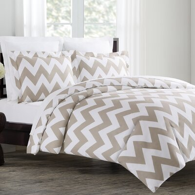 Dion Duvet Cover Set Size: King, Color: Taupe