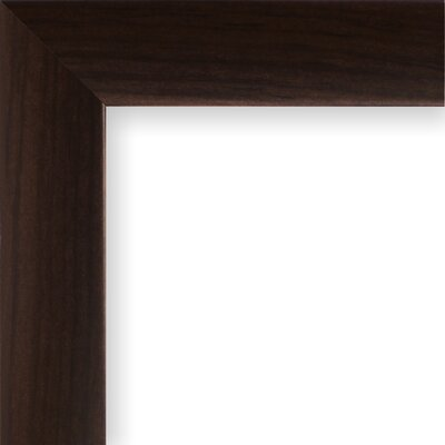 Wide Smooth Wood Grain Picture Frame Color: Brazilian Walnut, Size: 22