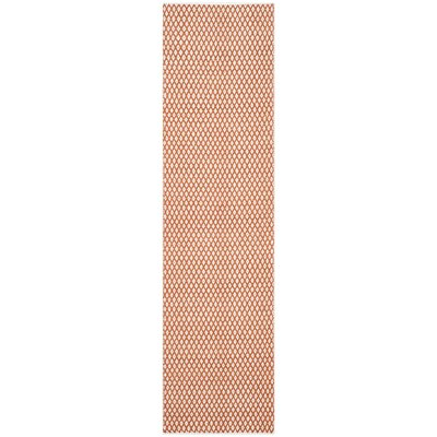 Amicus Hand-Tufted Orange Area Rug Rug Size: Runner 23 x 11