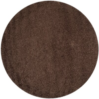 Austral Brown Area Rug Rug Size: Round 67 x 67