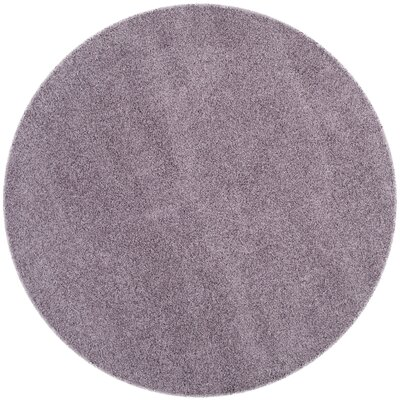 Bluestar Purple Area Rug Rug Size: Round 67 x 67