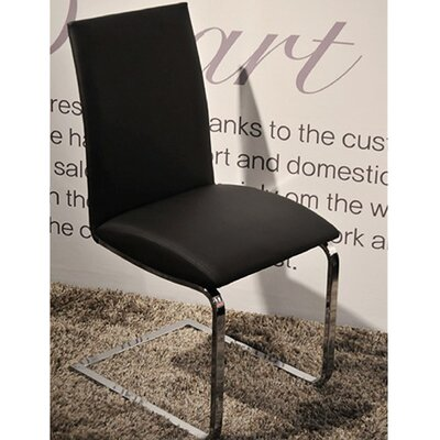 Leontine Side Chair (Set of 2) Upholstery: Black Leatherette