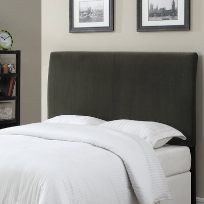 Upholstered Panel Headboard Color: Gray, Size: King / California King