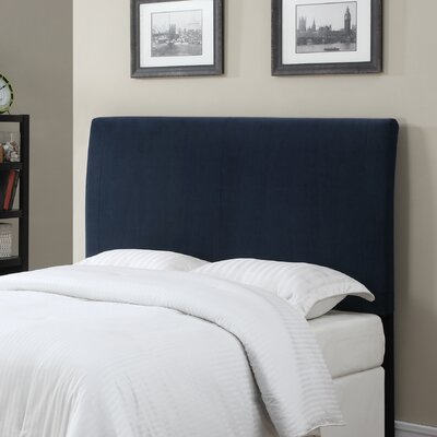 Upholstered Panel Headboard Color: Navy Blue, Size: King / California King