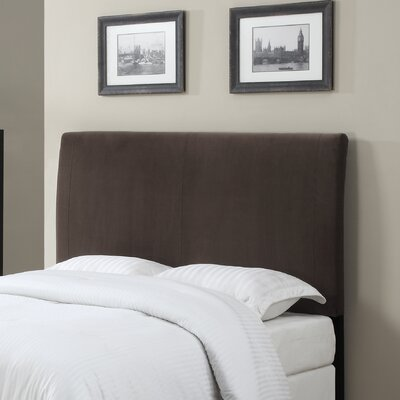 Upholstered Panel Headboard Color: Brown, Size: King / California King