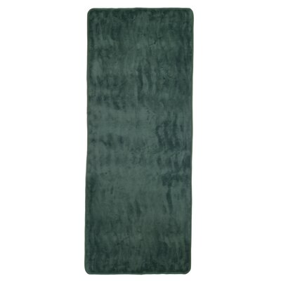 Barrientos Memory Foam Extra Long Bath Mat Color: Green
