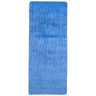 Barrientos Memory Foam Extra Long Bath Mat Color: Blue