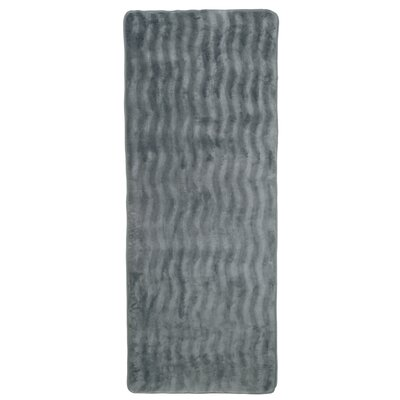 Barrientos Memory Foam Extra Long Bath Mat Color: Platinum