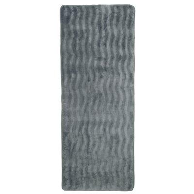 Barrientos Memory Foam Extra Long Bath Mat Color: Platinum